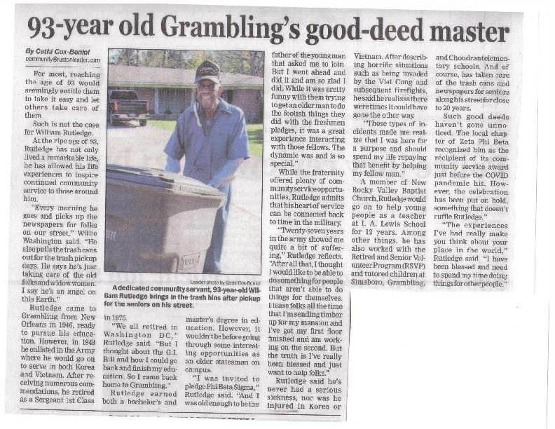 93-year Old Grambling's Good-Deed Master