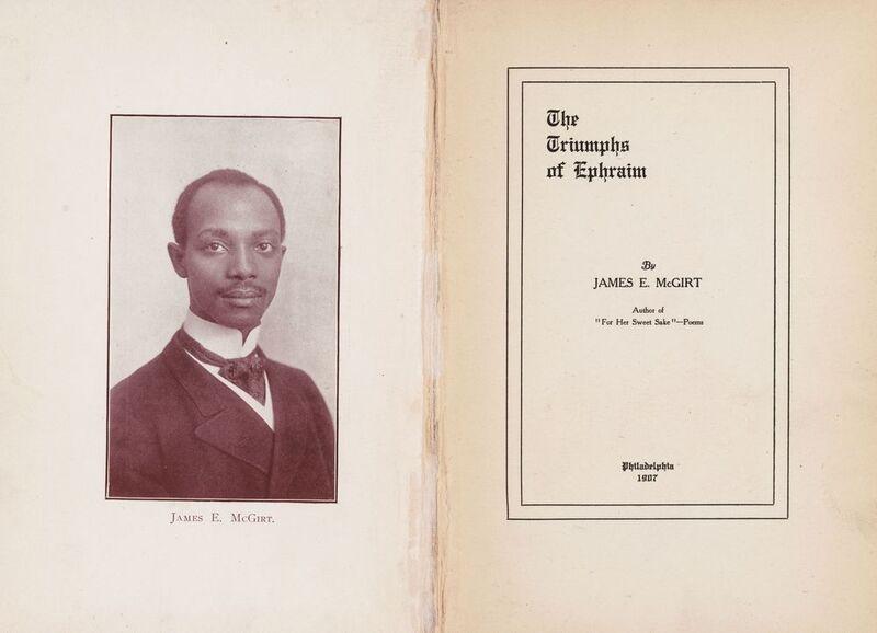 James Ephraim McGirt. The Triumphs of Ephraim. Philadelphia: The McGirt Publishing Co., 1907.