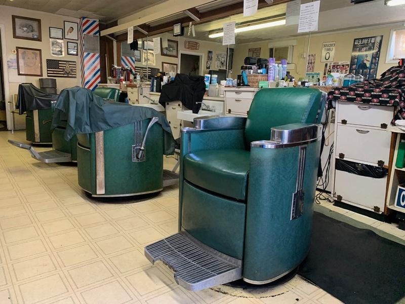 Inside of DeLuxe Barbershop