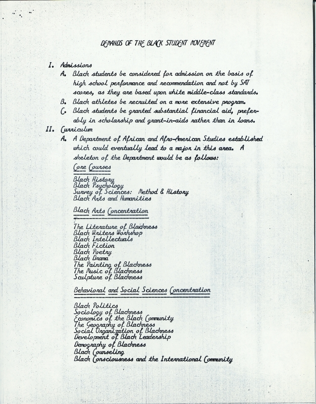 List of 23 Demands of the Black Student Movement, page 3