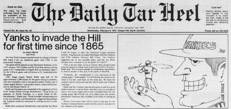 DTH Yankees to invade 9-Feb-1977--detail.jpg