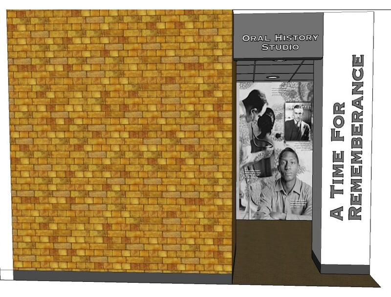 Plan for oral history recording booth at the Tuskegee History Center 2