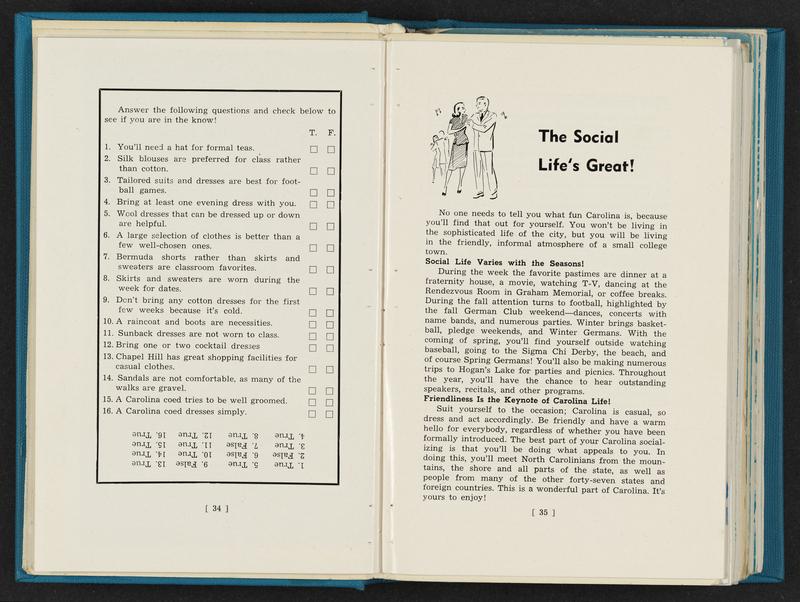 Women's Handbook Quiz, 1954-55