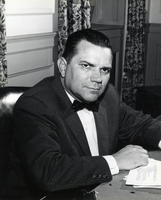 Photo, Chancellor William Aycock, circa 1957, Chapel Hill, N.C.