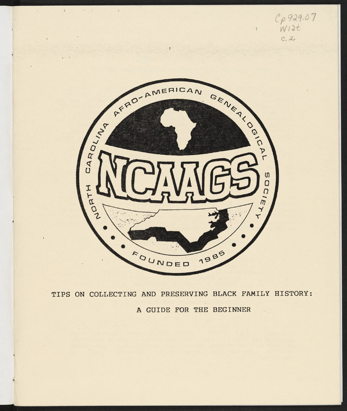 Tips for Collecting & Preserving Black Family History_ 1st page.tif