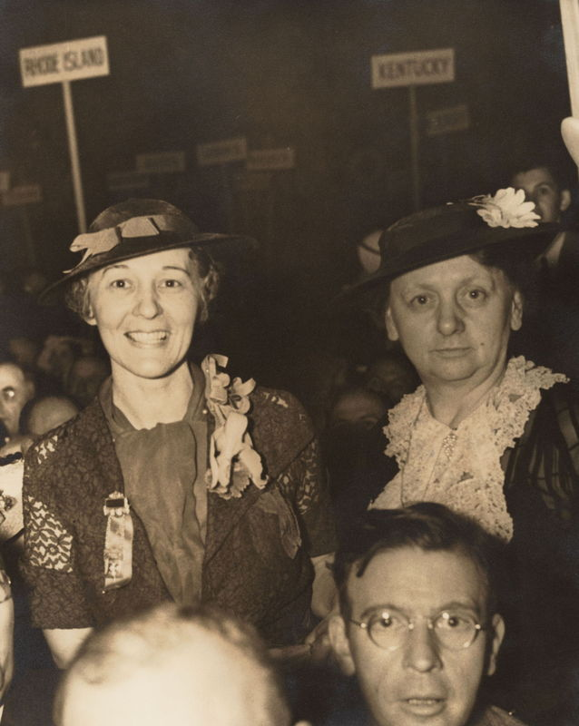 Gladys Tillett and Harriet Elliott, 1936