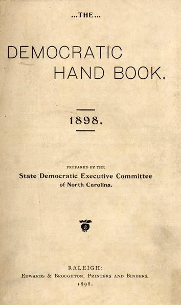 The Democratic Hand Book. 1898