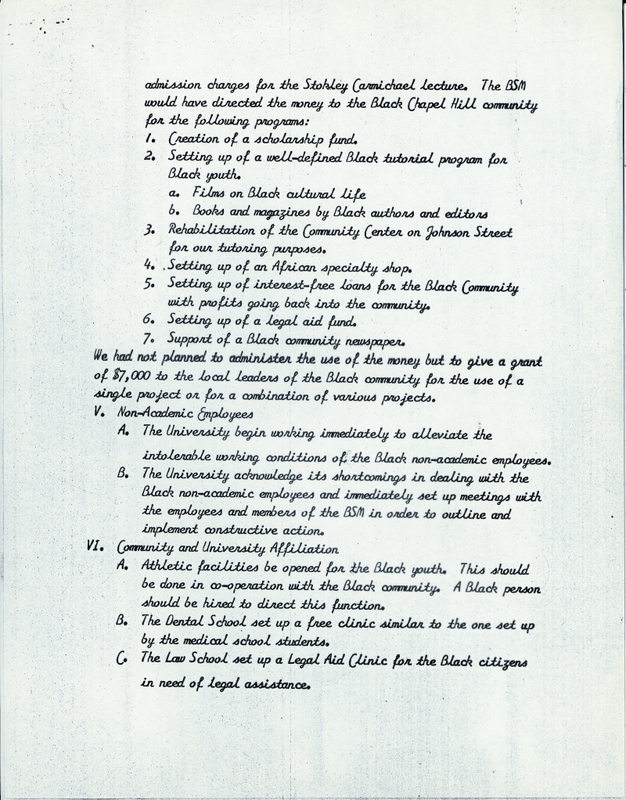 List of 23 Demands of the Black Student Movement, page 5