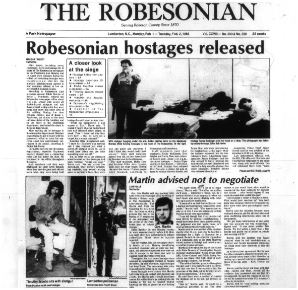 Robesonian Hostages Released