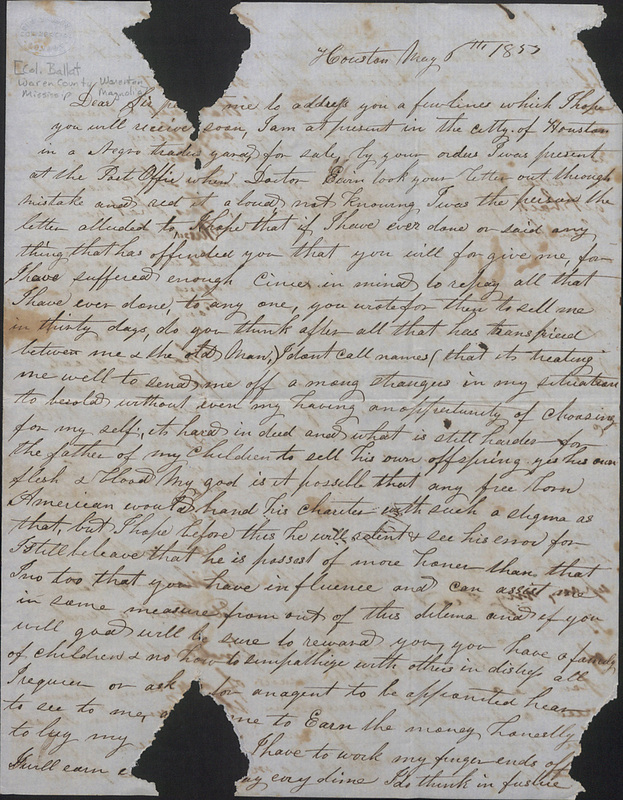 Virginia Boyd (enslaved) to master