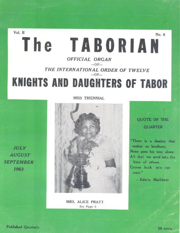 The Taborian, Summer 1963