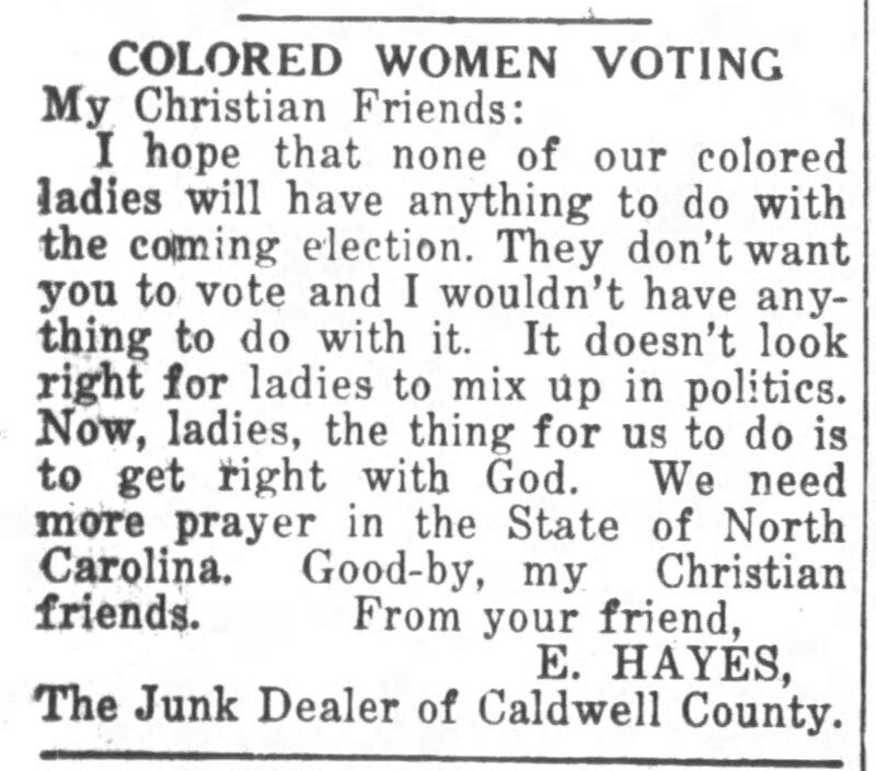 Lenoir News Topic Friday October 15, 1920