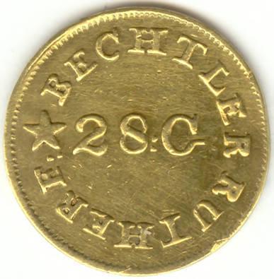Bechtler gold dollar, 1830s