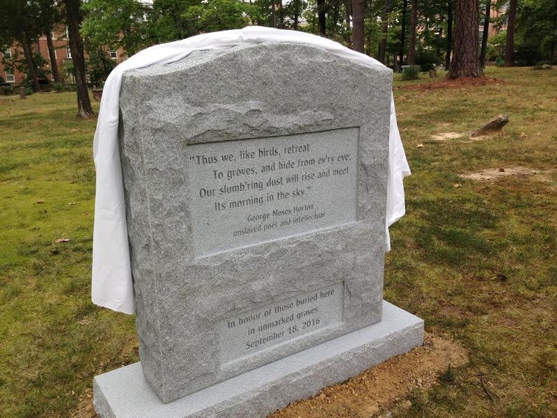 Old Chapel Hill Cemetery monument, 2016