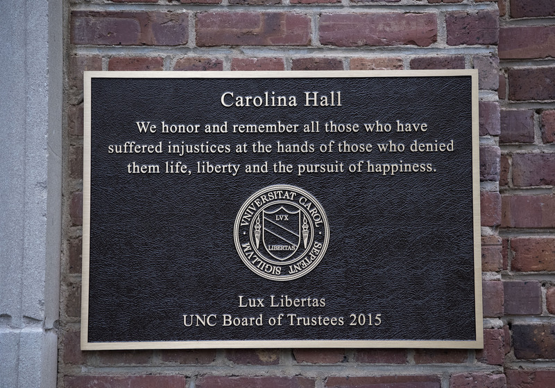 Carolina Hall plaque