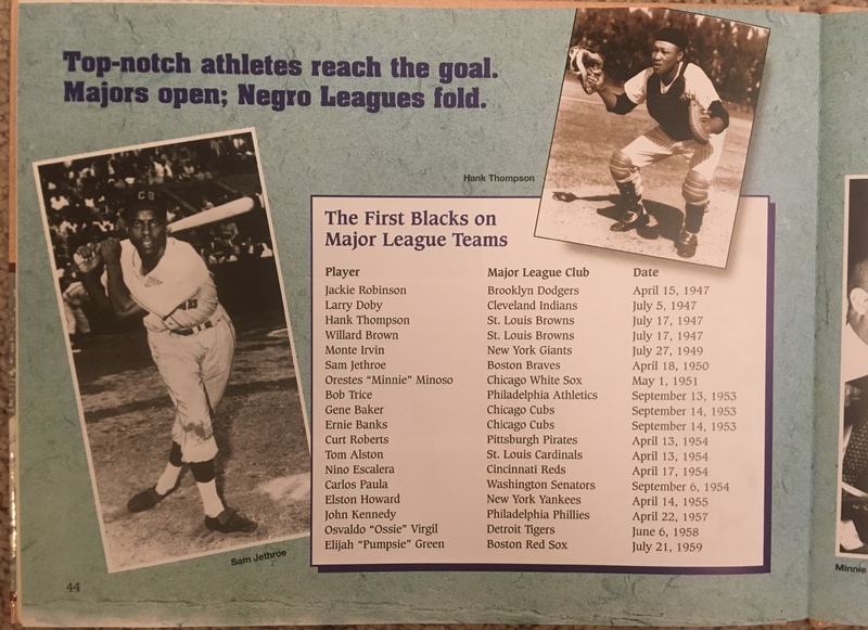 First blacks in Major League