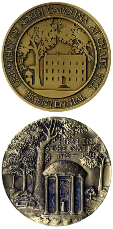 University of North Carolina Bicentennial medal