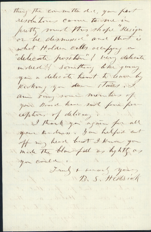 28 October 1856. Benjamin S. Hedrick to Charles Manly.