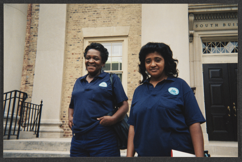 Photograph of Marsha Tinnen and Barbara Prear, UNC Housekeepers Association