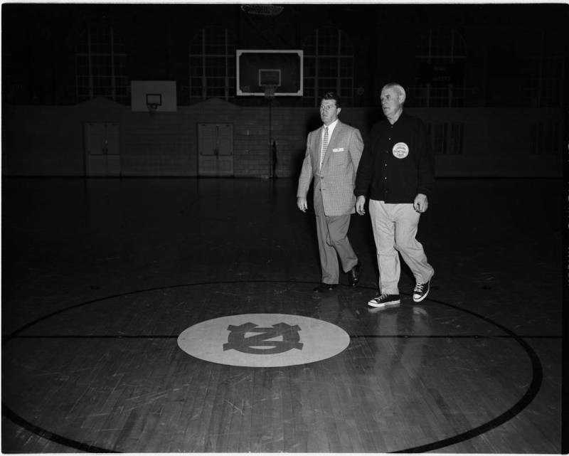 "Coach Frank McGuire & Coach James Ambrose ""Buck"" Freeman."