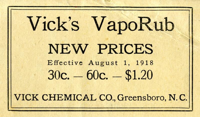 Vick's VapoRub: new prices