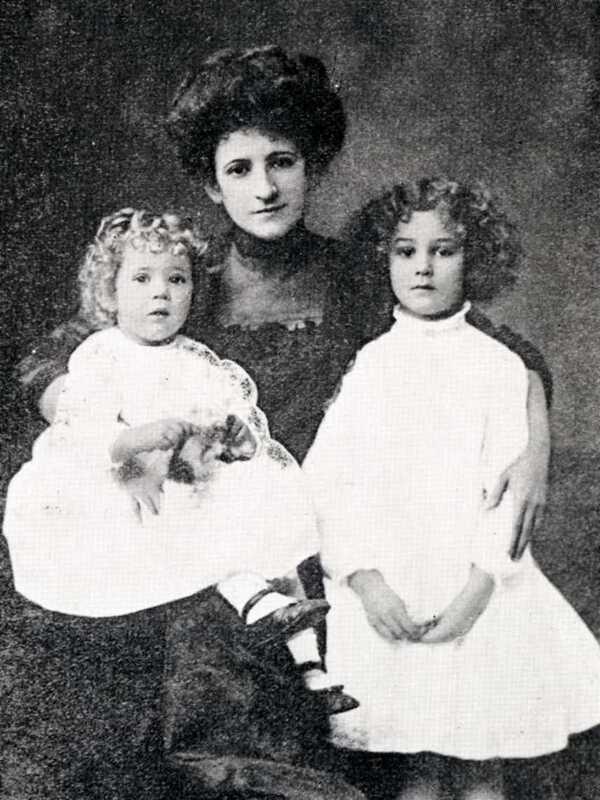 Barbara Henderson and children.  <br />