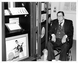 Photo of Herman Bernard, donor of the Bechtler gold coins