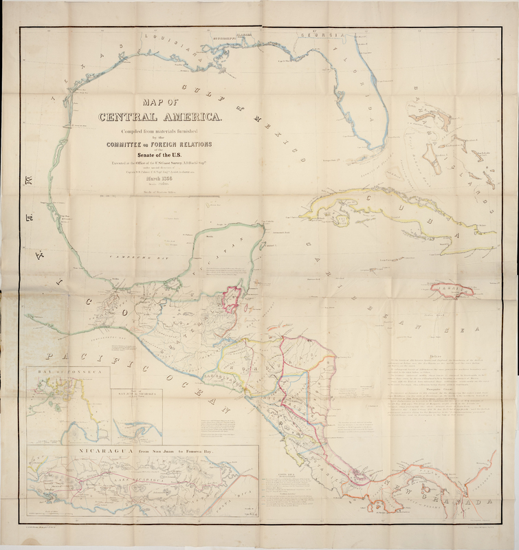 Map of Central America: compiled from materials furnished by the Committee on Foreign Relations of the Senate of the U.S.