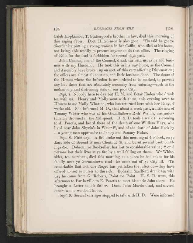 Extracts from the journal of Elizabeth Drinker, from 1759 to 1807, A.D.