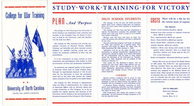 College for War Training brochure