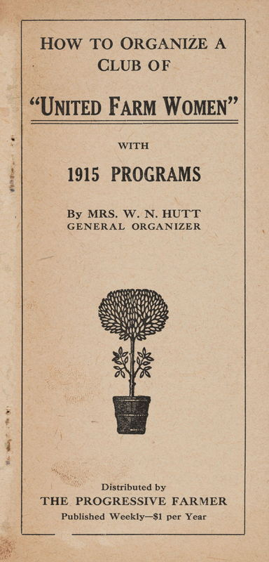 cover How to Organize a Club of United Farm Women, 1915