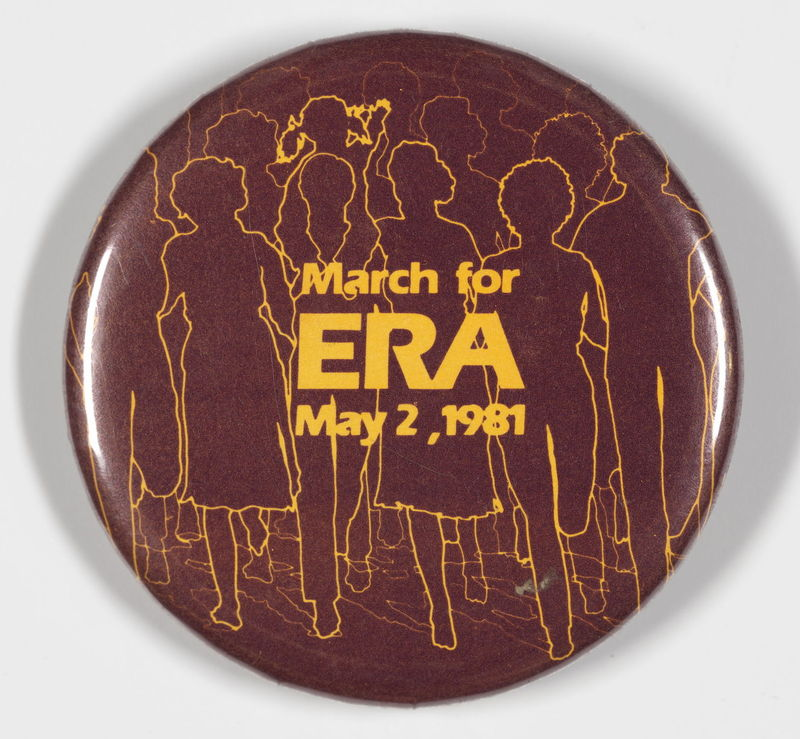 March for ERA May 2, 1981 button