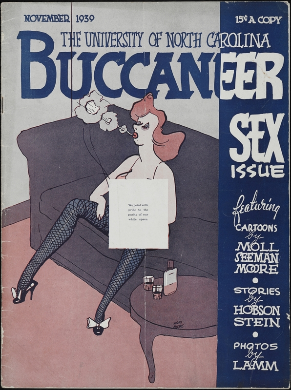 Censored version of the November 1939 issue of the Carolina Buccaneer