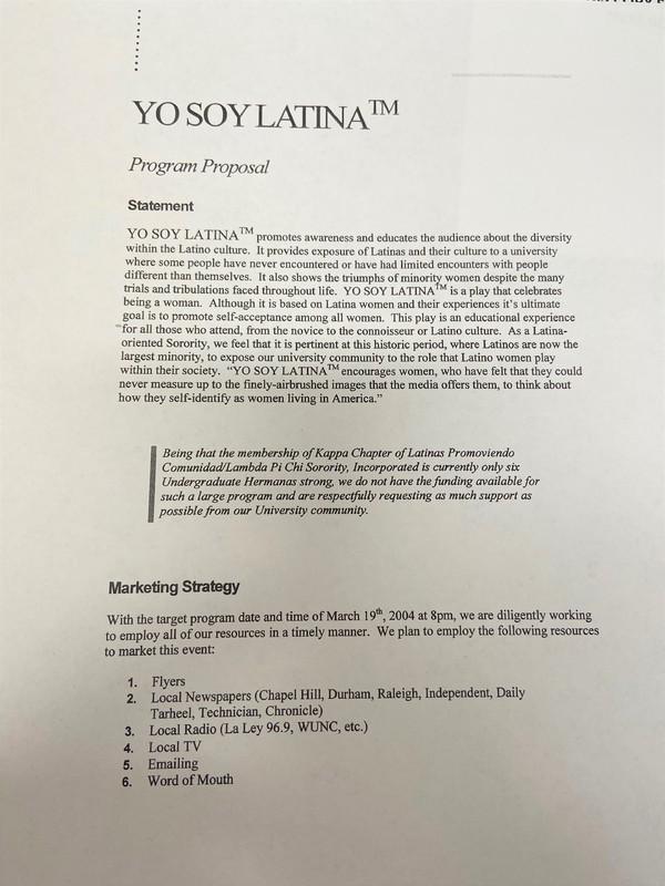 """""""Yo Soy Latina"""" program description"""