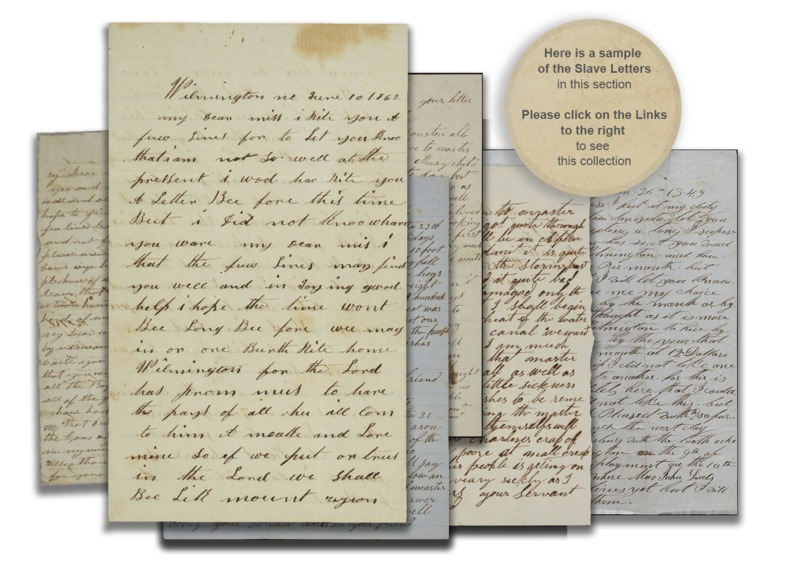 Letter from Slave to Owner with text circle