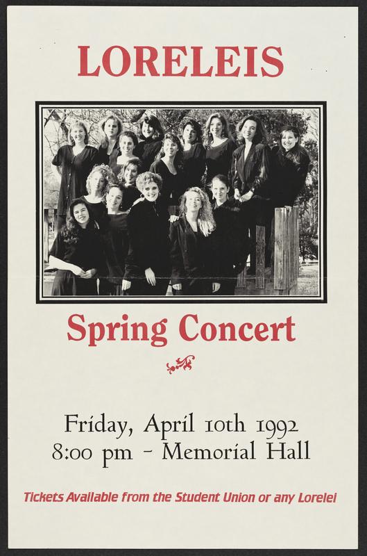 Lorelei's Spring Concert flier, 1992