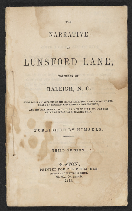 The Narrative of Lunsford Lane