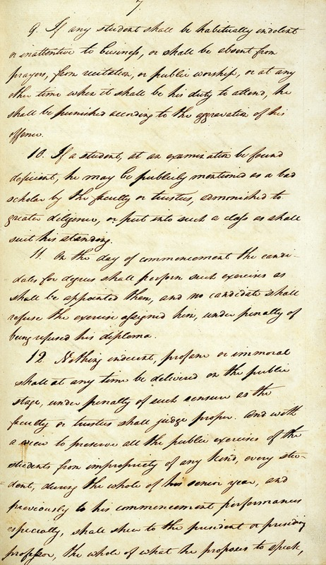 Pages 7 and 8 of the Laws of the University of North Carolina<br />