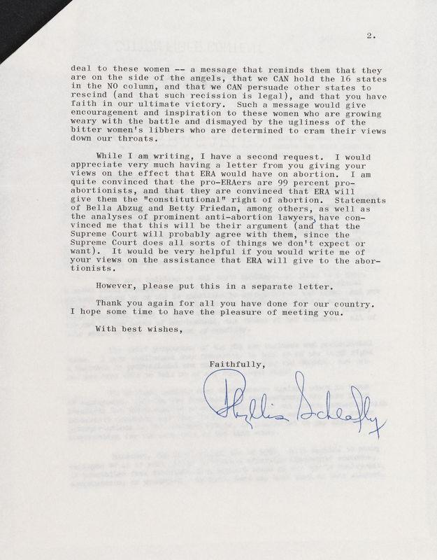 letter Phyllis Schlafly to Sam Ervin, Sep 15, 1975