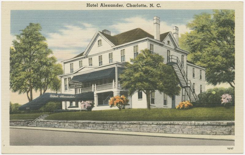 Postcard of Hotel Alexander, Charlotte, NC