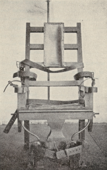 Electric chair, Central Prison, Raleigh, N.C.