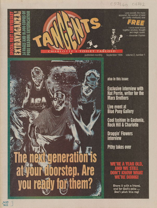 front cover of Tangents by Daniel Coston, Lewd, Carl Fulmer, Dann Dunn, D.M. Marauder, and Cindy Sites-Wooley