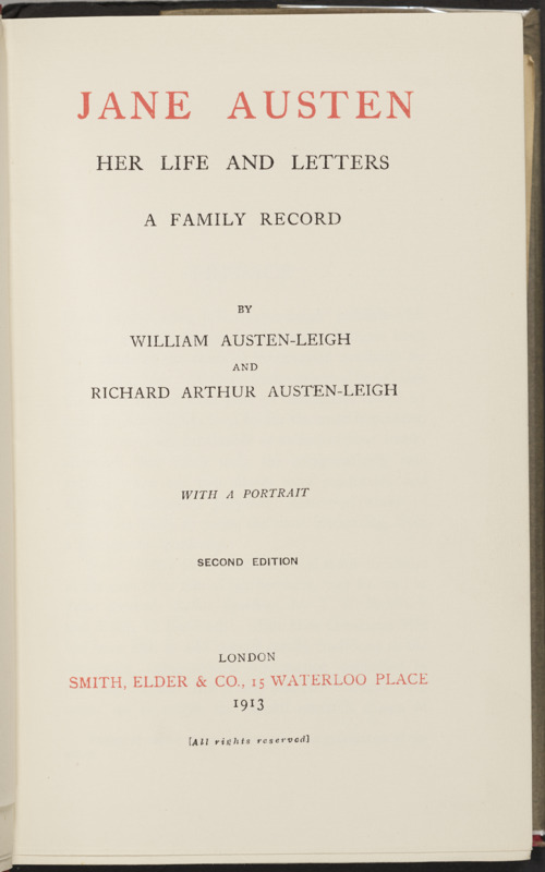 Title Page, A Family Record