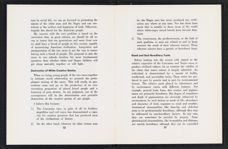 Pages 12 and 13 of Race Problems and Human Progress by W. C. George