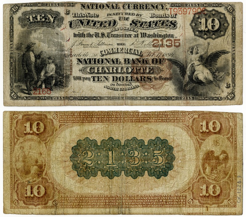 Commercial National Bank of Charlotte $10, 1894