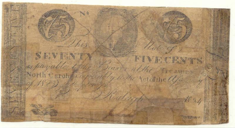 Seventy-five-cent counterfeit treasury note, 1778