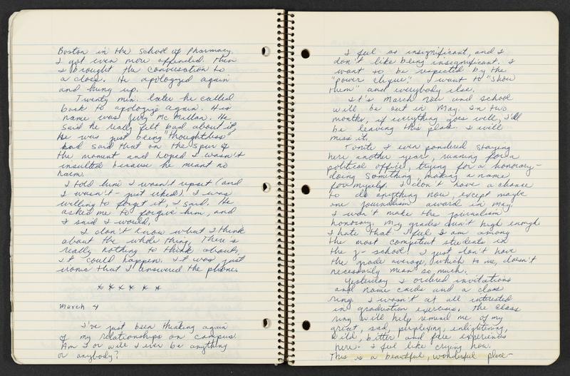 Opening from Karen Parker Diary