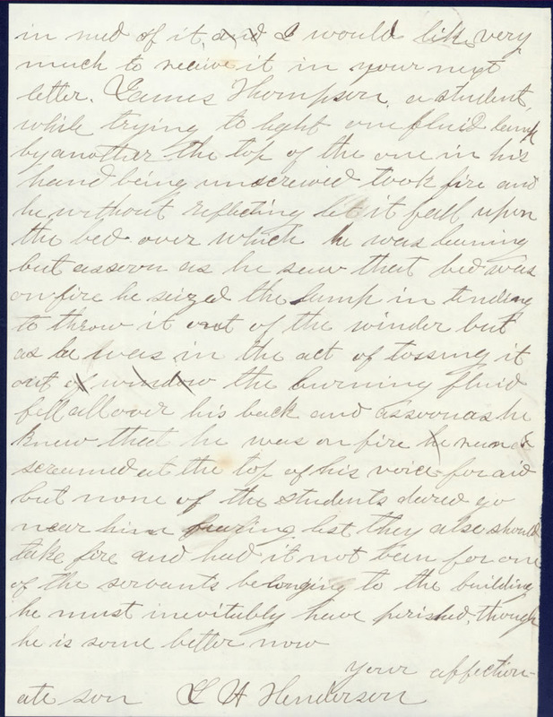 16 October 1859. Leonard Henderson to his mother.