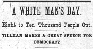 """""""A White Man's Day."""""""