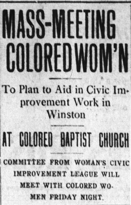 Winston Salem Journal, Thursday March 6, 1913